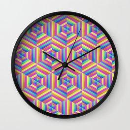 Kaleidoscope Hex Wall Clock