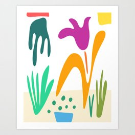 Bringing the Plants In Art Print