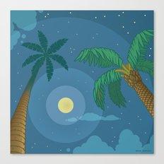 Supermoon Over Aruba Canvas Print