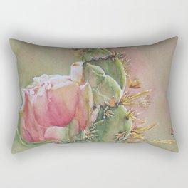 Desert Cactus Flowers Rectangular Pillow