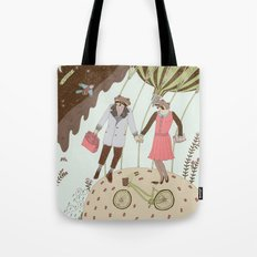 Mr and Mrs Raccoon Tote Bag