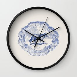 DelftWare Wolf Wall Clock
