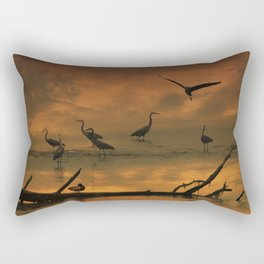 Herons at Sunset II Rectangular Pillow