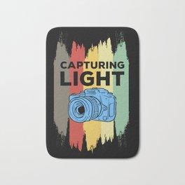 Capturing Light - Retro Photo Camera Bath Mat