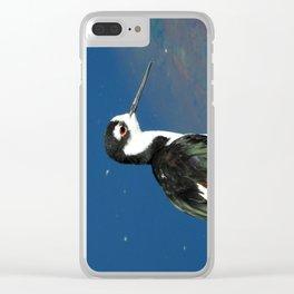 Juvenile Black Necked Stilt Clear iPhone Case