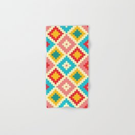 Candy Colored Tile Pattern Hand & Bath Towel