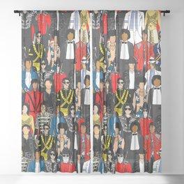 King MJ Pop Music Fashion LV Sheer Curtain