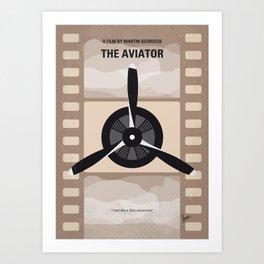 No618 My The Aviator minimal movie poster Art Print