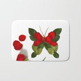 Butterfly-Rose Bath Mat