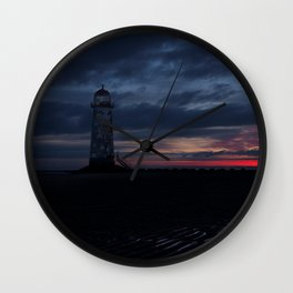Talacre Lighthouse Sunrise Wall Clock