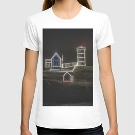 Nubble Lighthouse in December T-shirt
