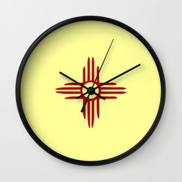 flag of new mexico hand drawn 2 Wall Clock
