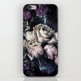Roses and peonies vintage style iPhone Skin