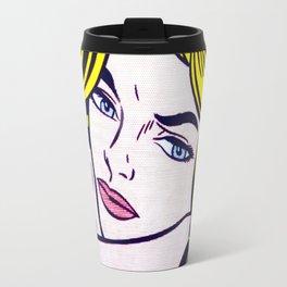 Blonde Waiting - 1964 - Roy Lichtenstein Travel Mug