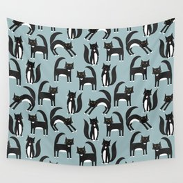 Black and White Cats Wall Tapestry