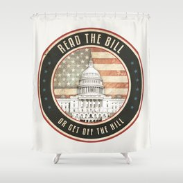 Read The Bill Shower Curtain