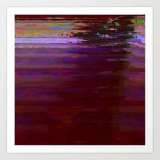 000000 (Dead City Glitch) Art Print