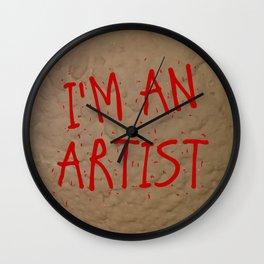 I'm an artist! Wall Clock
