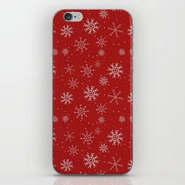 New Year Christmas winter holidays cute pattern iPhone Skin