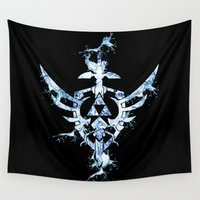 triforce Wall Tapestries featuring Water Triforce by bivisual