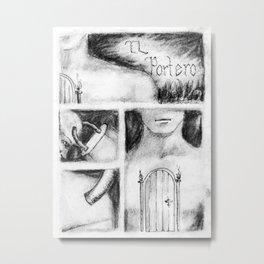 El Portero - Surreal Draw - Psychological Visual Story Metal Print