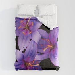 Beautiful Blue Ant Lilies, Flowers Scanography Comforters