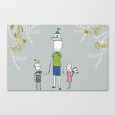 Daddy's home. Canvas Print