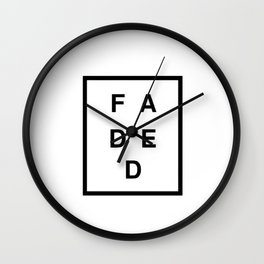 FADED SQUARED Wall Clock