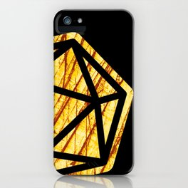 DnD d20 scratched yellow ambar iPhone Case