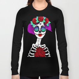 Elly Skelly - sugar skull Long Sleeve T-shirt