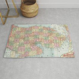 Vintage Map of Michigan (1901) 2 Rug