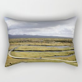 Walk over Water | Thingvellir National Park Iceland | Landscape Photography Rectangular Pillow