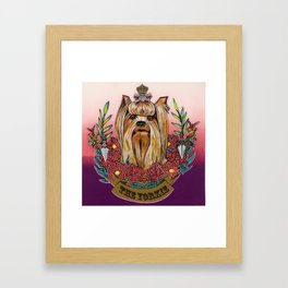 The Yorkie 2 Framed Art Print