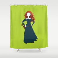 merida Shower Curtains featuring Merida from the Brave by Alice Wieckowska