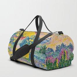 Henri-Edmond Cross Neo-Impressionism Landschaft mit Le Cap Nègre Paysage avec le cap Nègre Duffle Bag