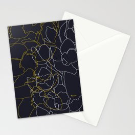 Pure poetry and some flowers Stationery Cards