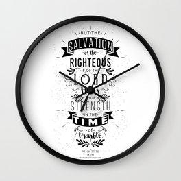Psalm 37:39 Wall Clock
