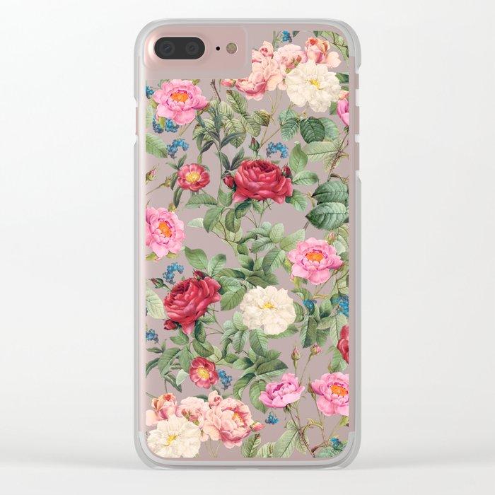 Rose garden Clear iPhone Case