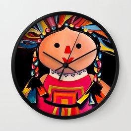 (Doll) Mexican Maria Wall Clock