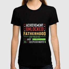 Dad To Be TShirt Gift Achievement Unlocked Fatherhood T-shirt