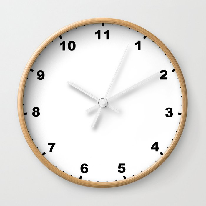 Don't Have Time Wall Clock