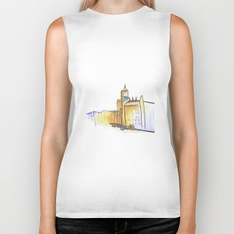 simple London on white background Biker Tank