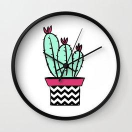 Solitary cactus Wall Clock