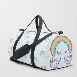 Kawaii proud rainbow cattycorn pattern Duffle Bag