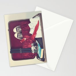 Vintage Journey Suitcase (His) (Retro and Vintage Still Life Photography) Stationery Cards