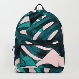 Tropical Monstera Leaves Dream #7 #tropical #decor #art #society6 Backpack