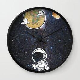 We The Explorers Wall Clock