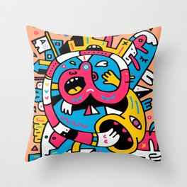 At The Third Stroke Throw Pillow