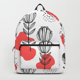 Abstract floral pattern Backpack