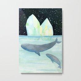 Cool whales on Antarctica Metal Print